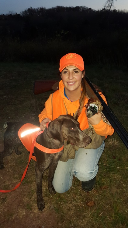 Bella is well on her way to becoming a perfectly trained hunting pup!
