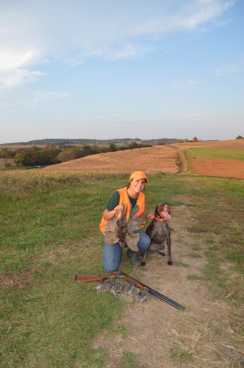 Bella and Hannah are making a good hunting team